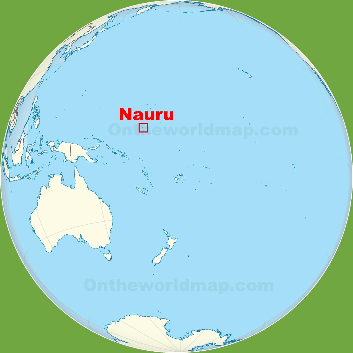 Nauru location on the Pacific Ocean map
