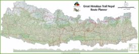 Large detailed map of Nepal