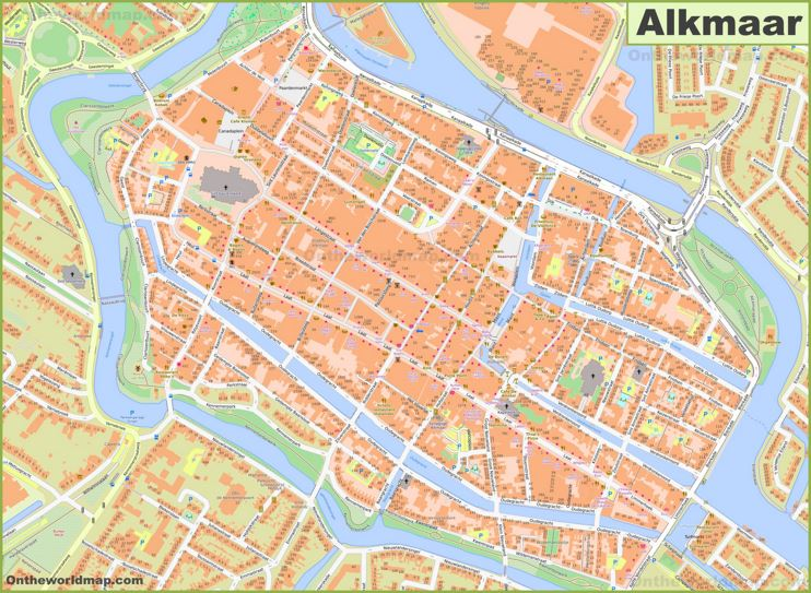 Alkmaar City Center Map