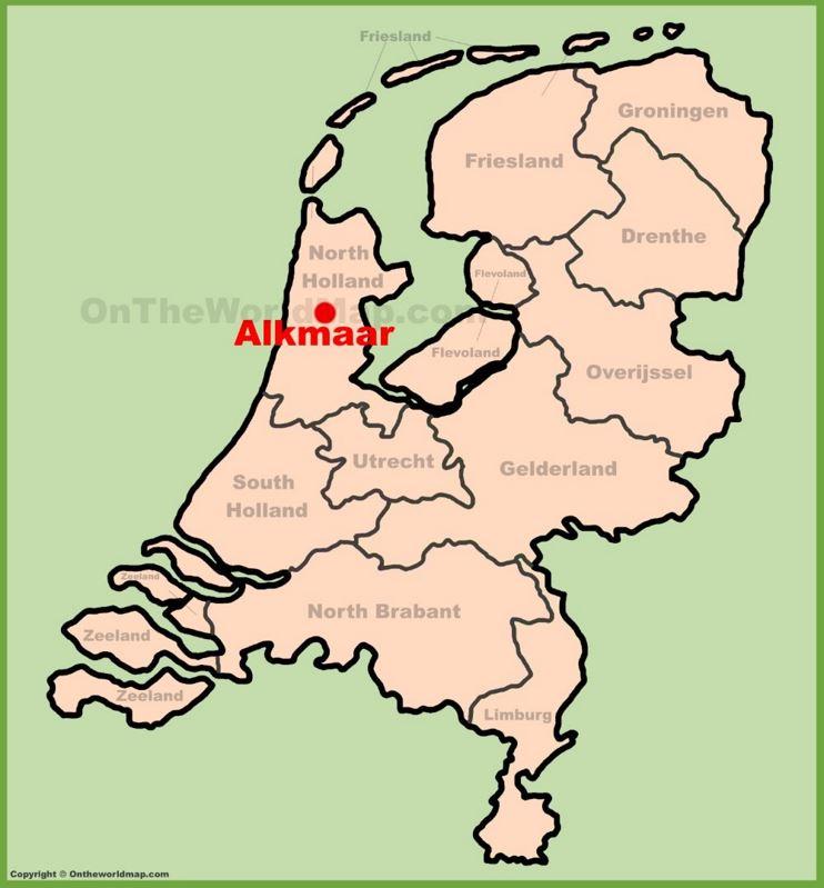Alkmaar location on the Netherlands map