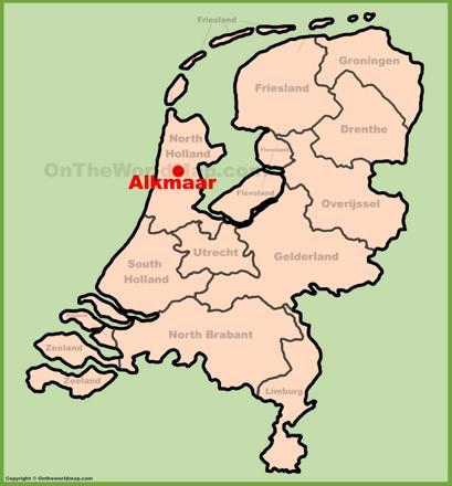 Alkmaar Location Map