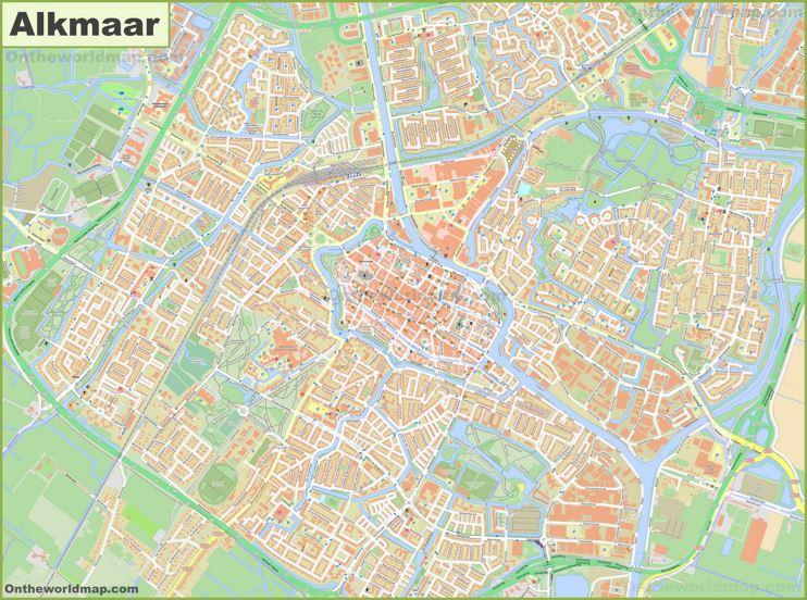 Detailed Map of Alkmaar