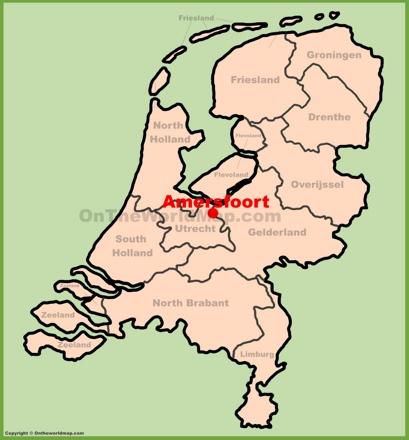 Amersfoort Location Map