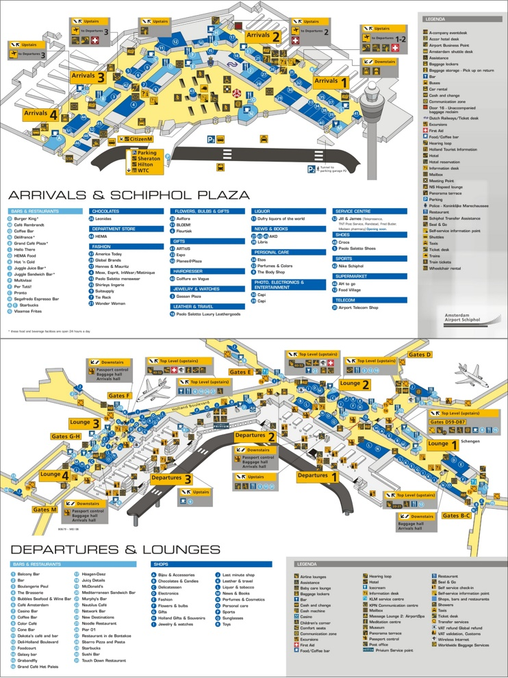 Amsterdam Airport Schiphol map