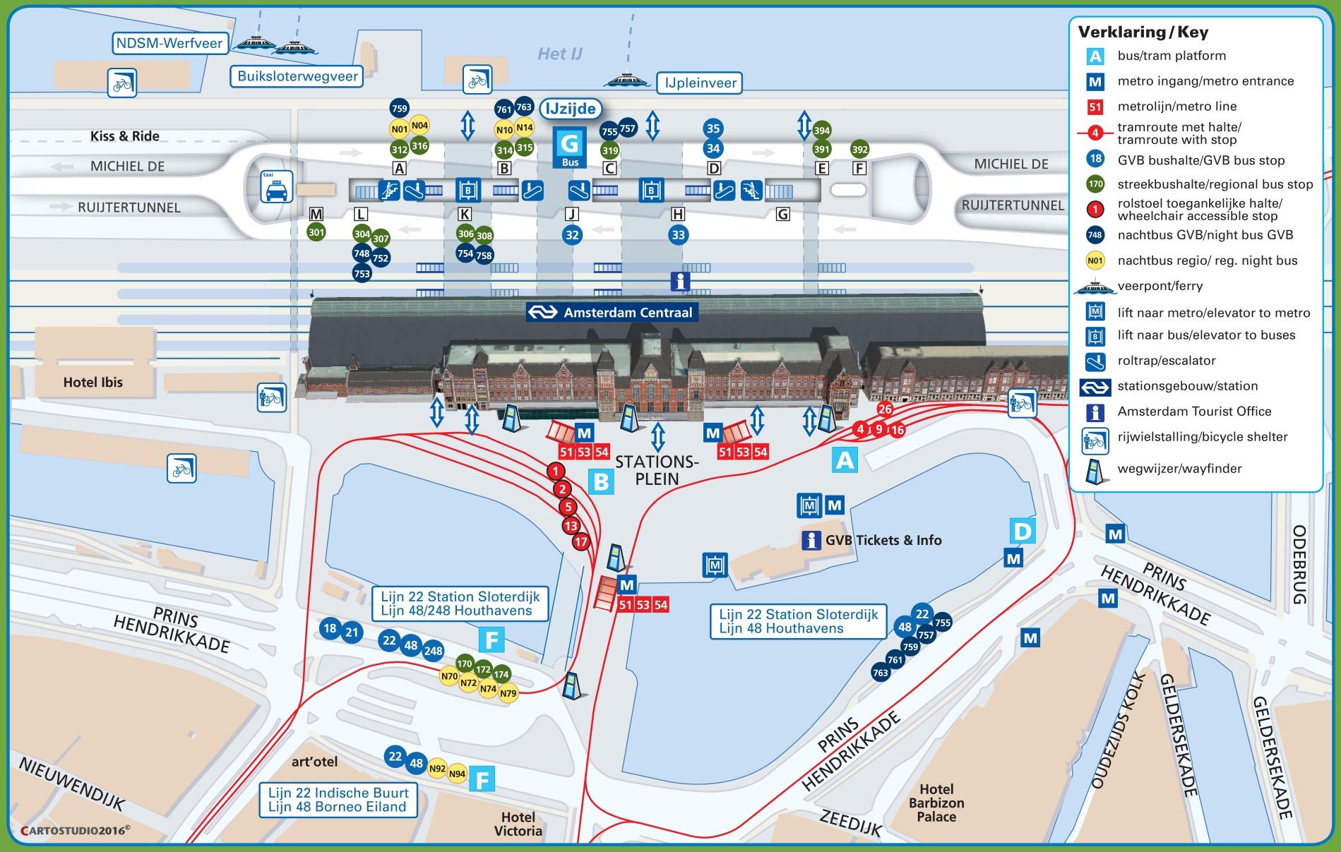 Sydney Central Station Map Amsterdam central station map Sydney Central Station Map