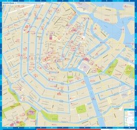 Amsterdam city center map