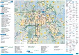 Amsterdam metro tram and bus map