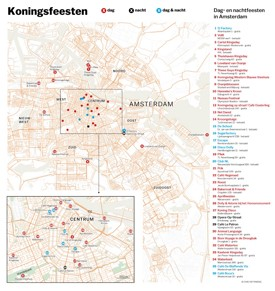 Amsterdam night clubs map