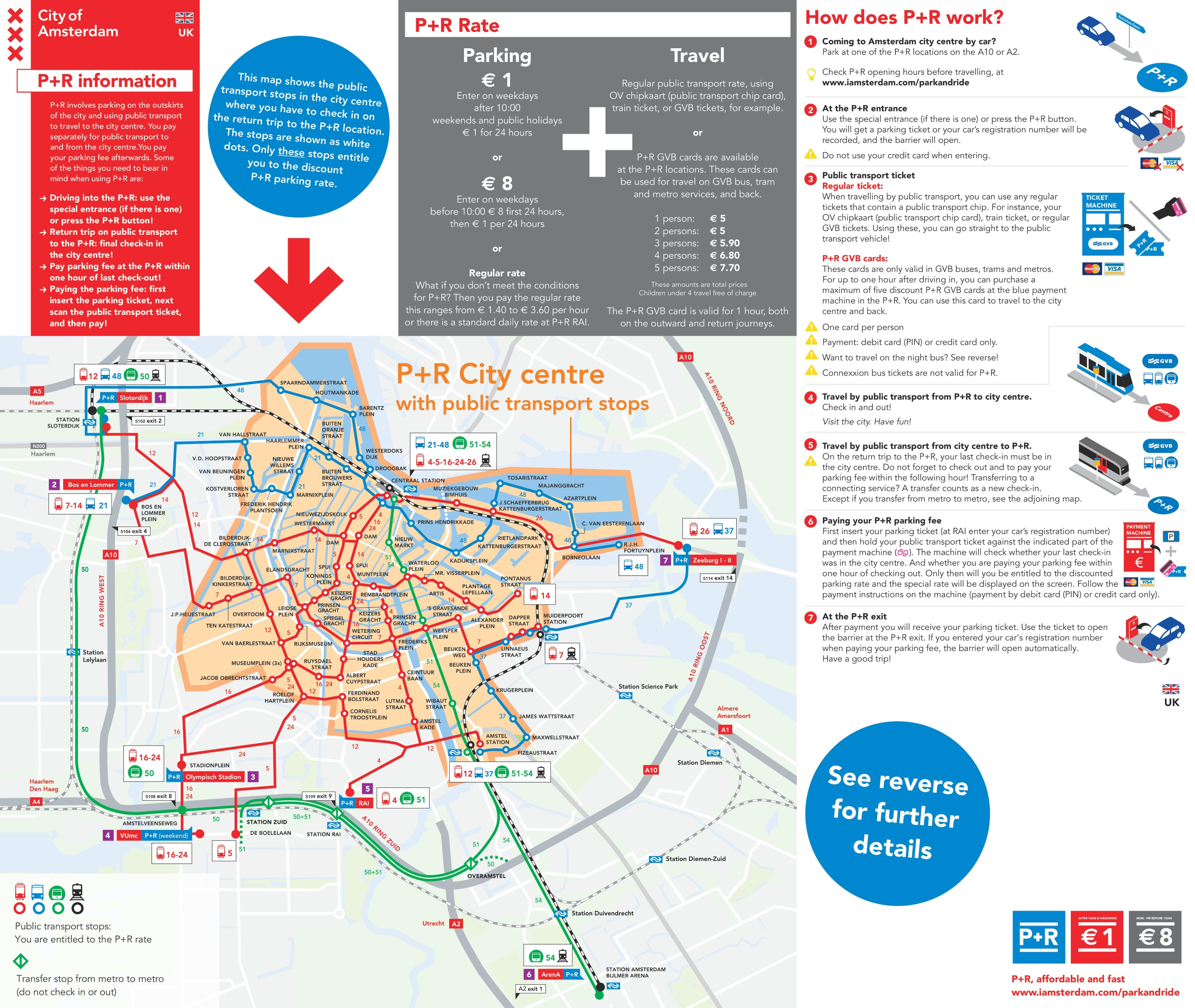 Amsterdam park and ride map