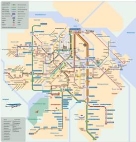 Amsterdam rail map