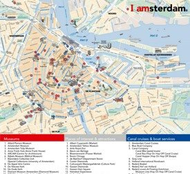 Amsterdam tourist attractions map