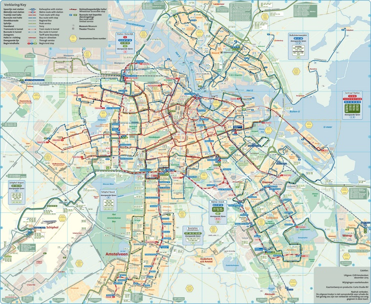 Amsterdam transport map