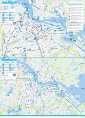 Amsterdam water map