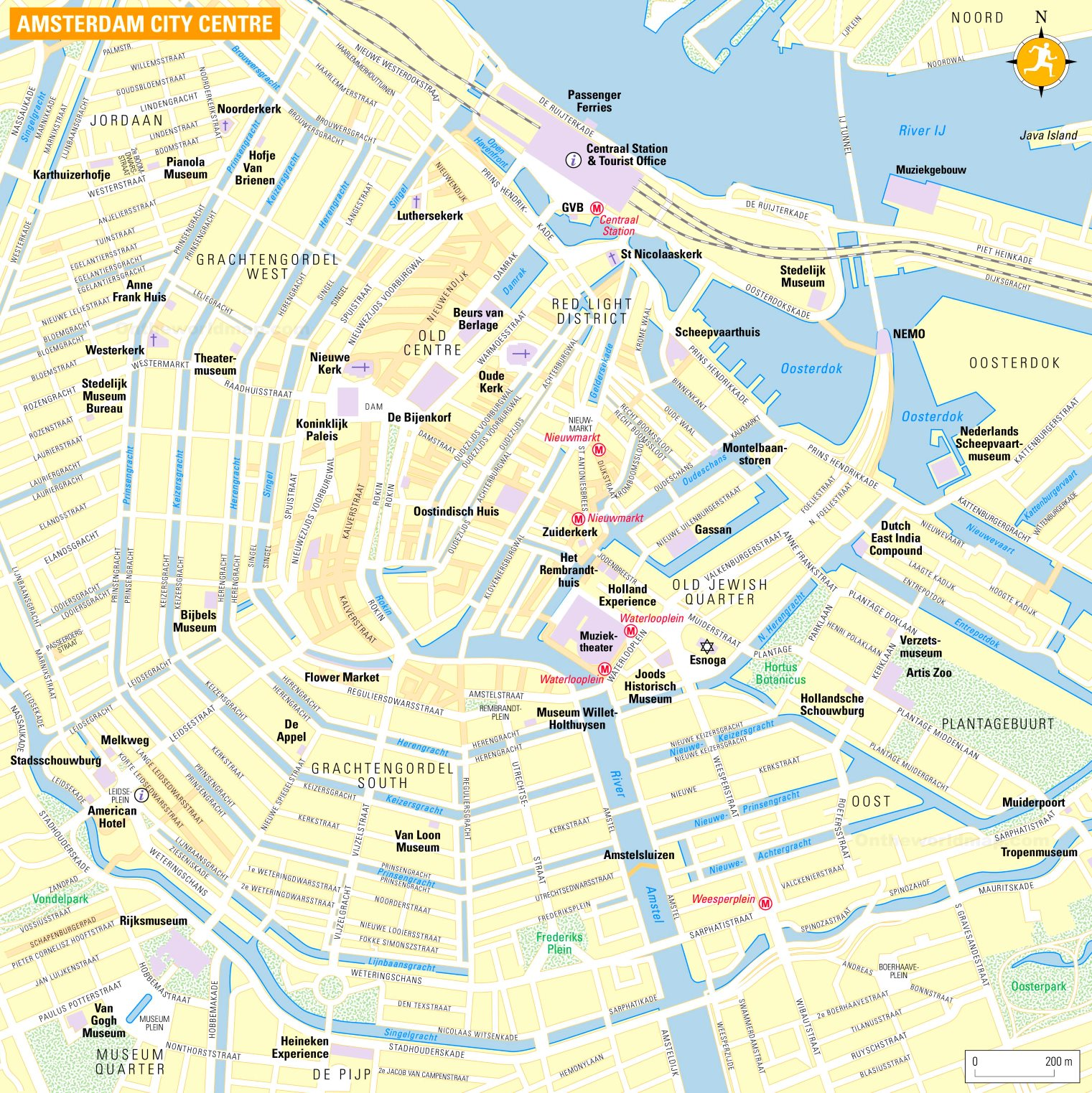 Tourist Map of Amsterdam City Centre on copenhagen map, moscow map, europe map, athens map, holland map, denmark map, israel map, world map, kinderdijk map, the netherlands map, edinburgh map, belgium map, leiden map, madrid map, hamburg map, constantinople map, berlin map, rotterdam map, budapest on map, stockholm on map,