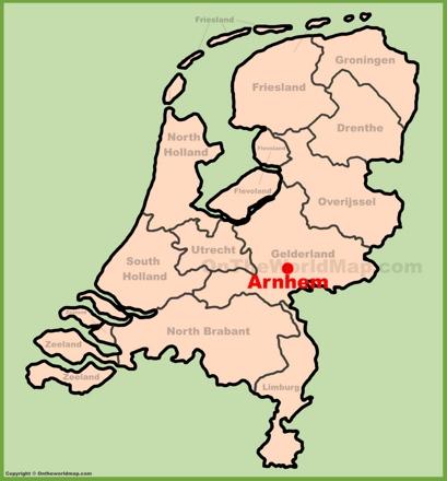 Arnhem Location Map