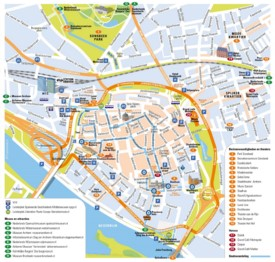 Arnhem tourist map
