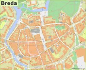 Breda City Center Map