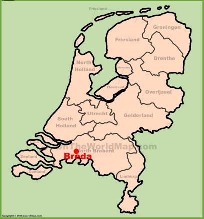Breda Location Map