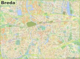 Detailed Map of Breda