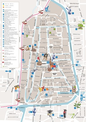 Delft city center map