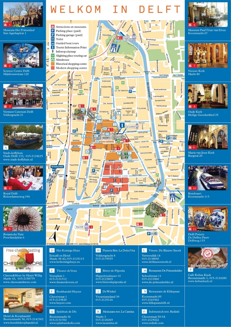 Delft tourist map