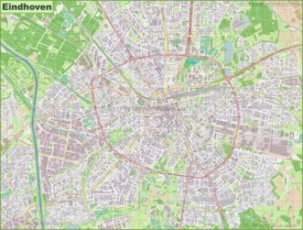 Large detailed map of Eindhoven