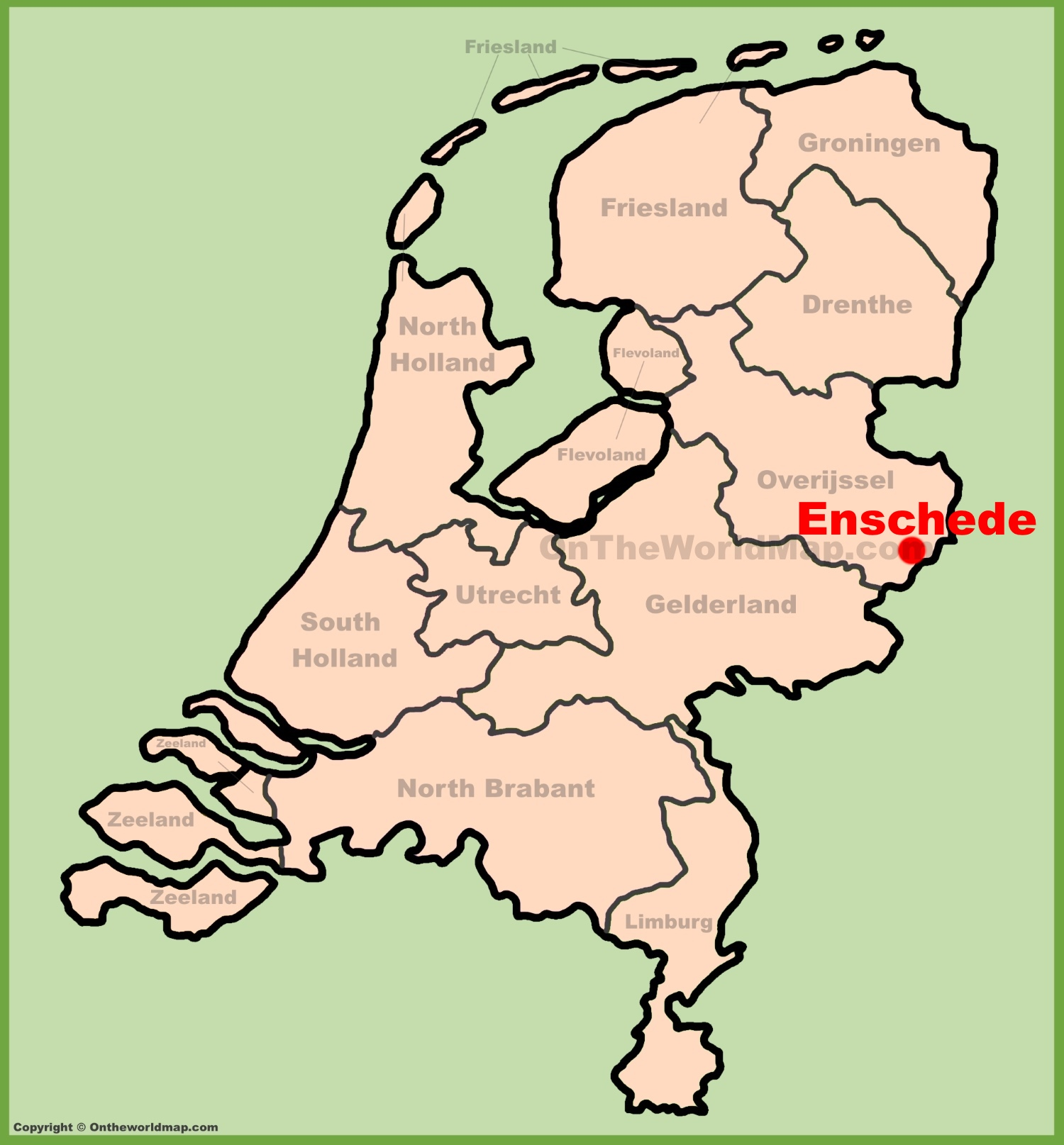 Enschede location on the Netherlands map