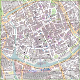 Groningen city center map