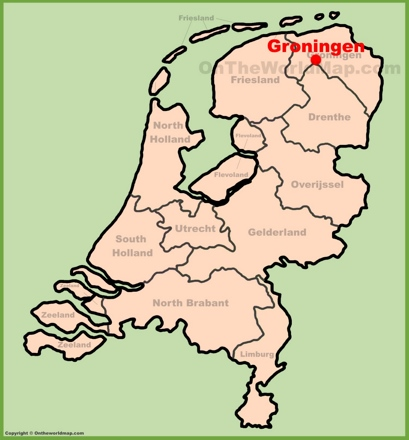 Groningen Location Map