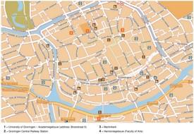 Groningen tourist map