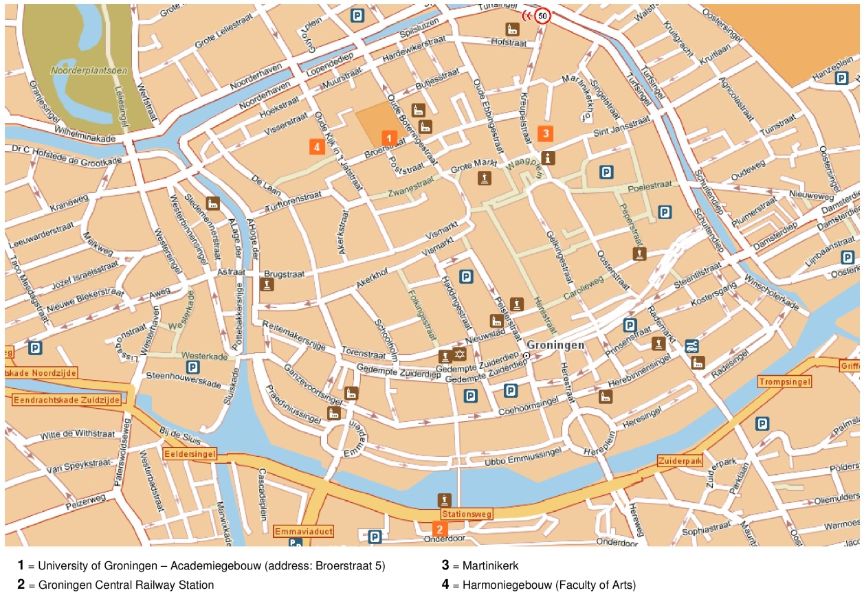 Groningen tourist map – The Hague Tourist Map