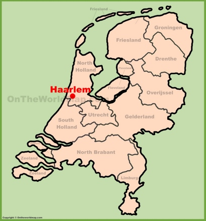 Haarlem Location Map