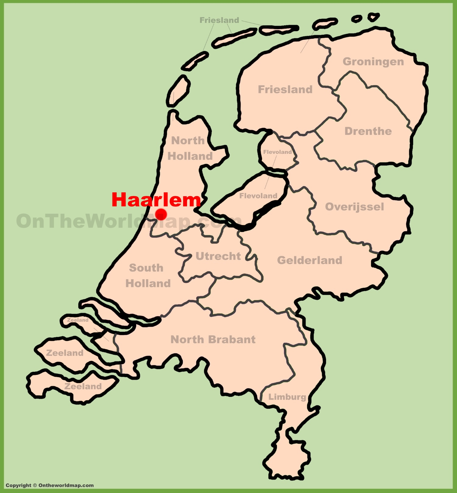 Haarlem location on the Netherlands map