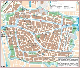 Leiden city center map