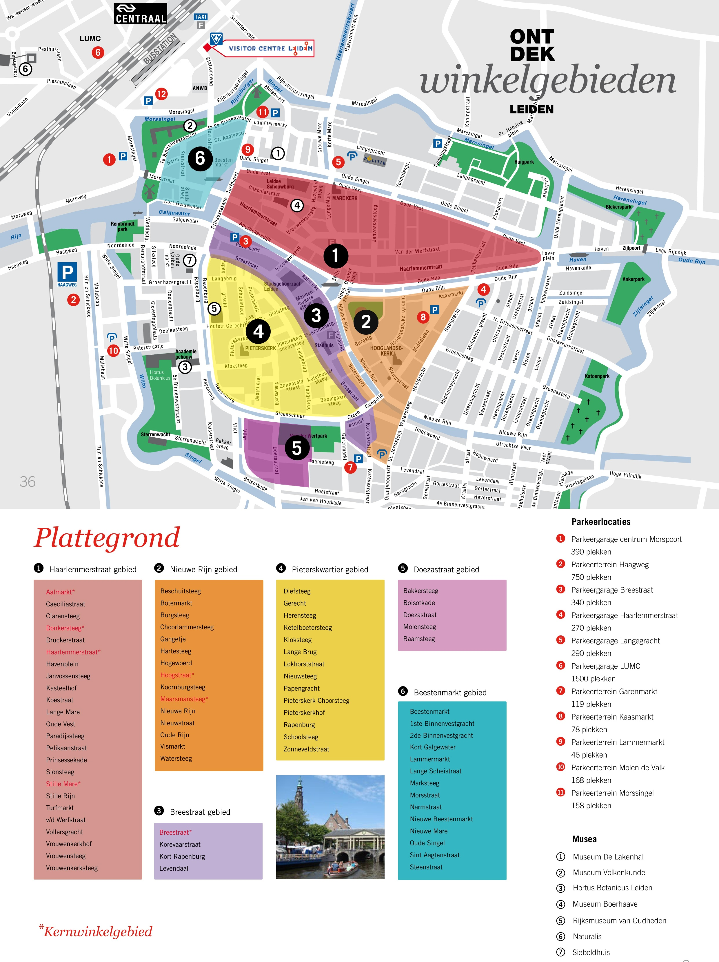 Leiden shopping map