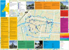 Leiden tourist map