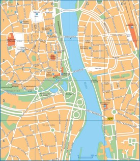 Maastricht city center map