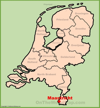 Maastricht Location Map