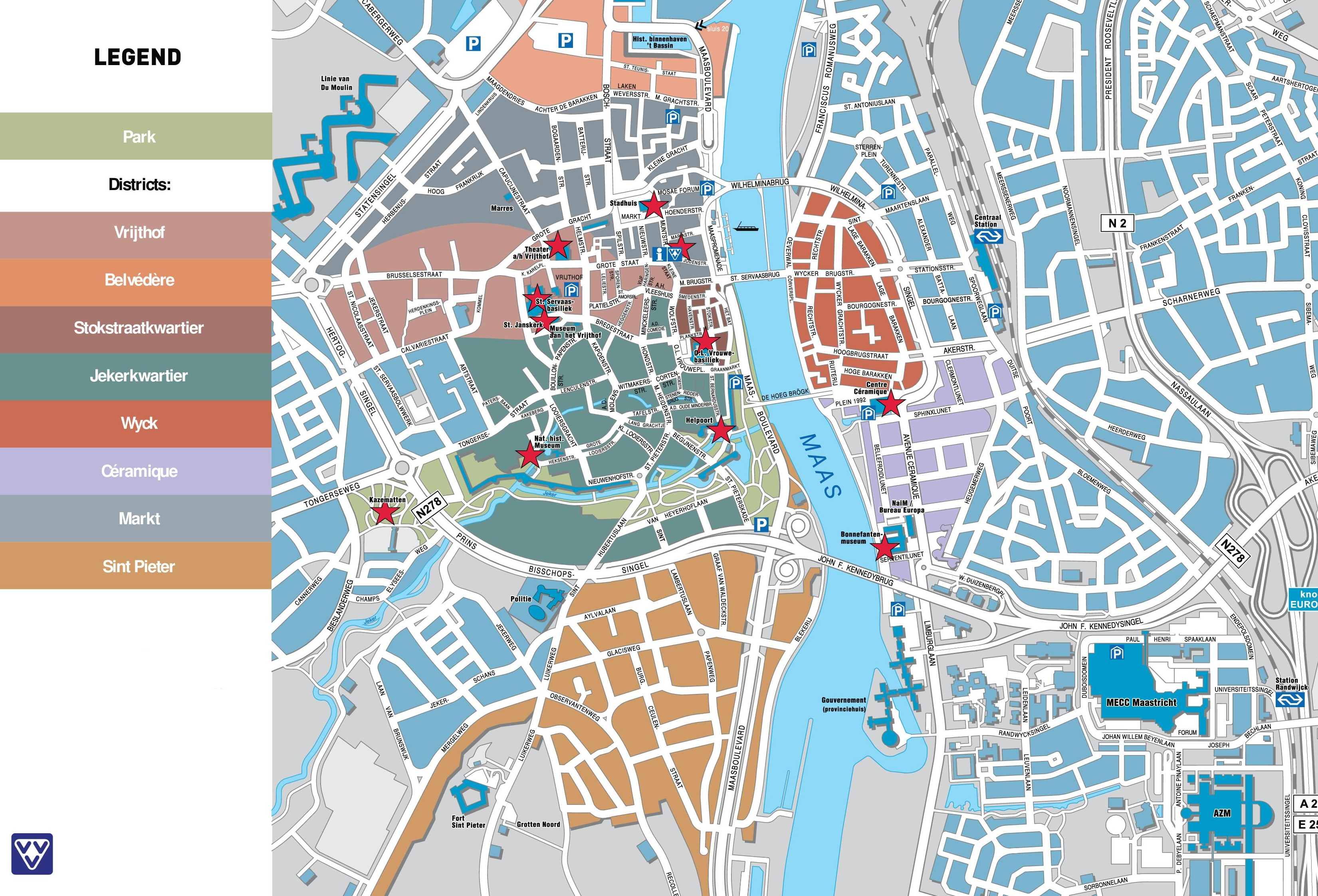 Maastricht tourist map – The Hague Tourist Map