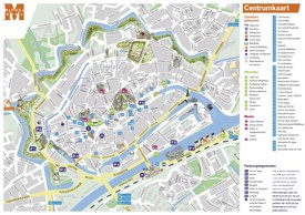 Middelburg tourist map