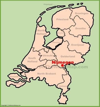 Nijmegen Location Map