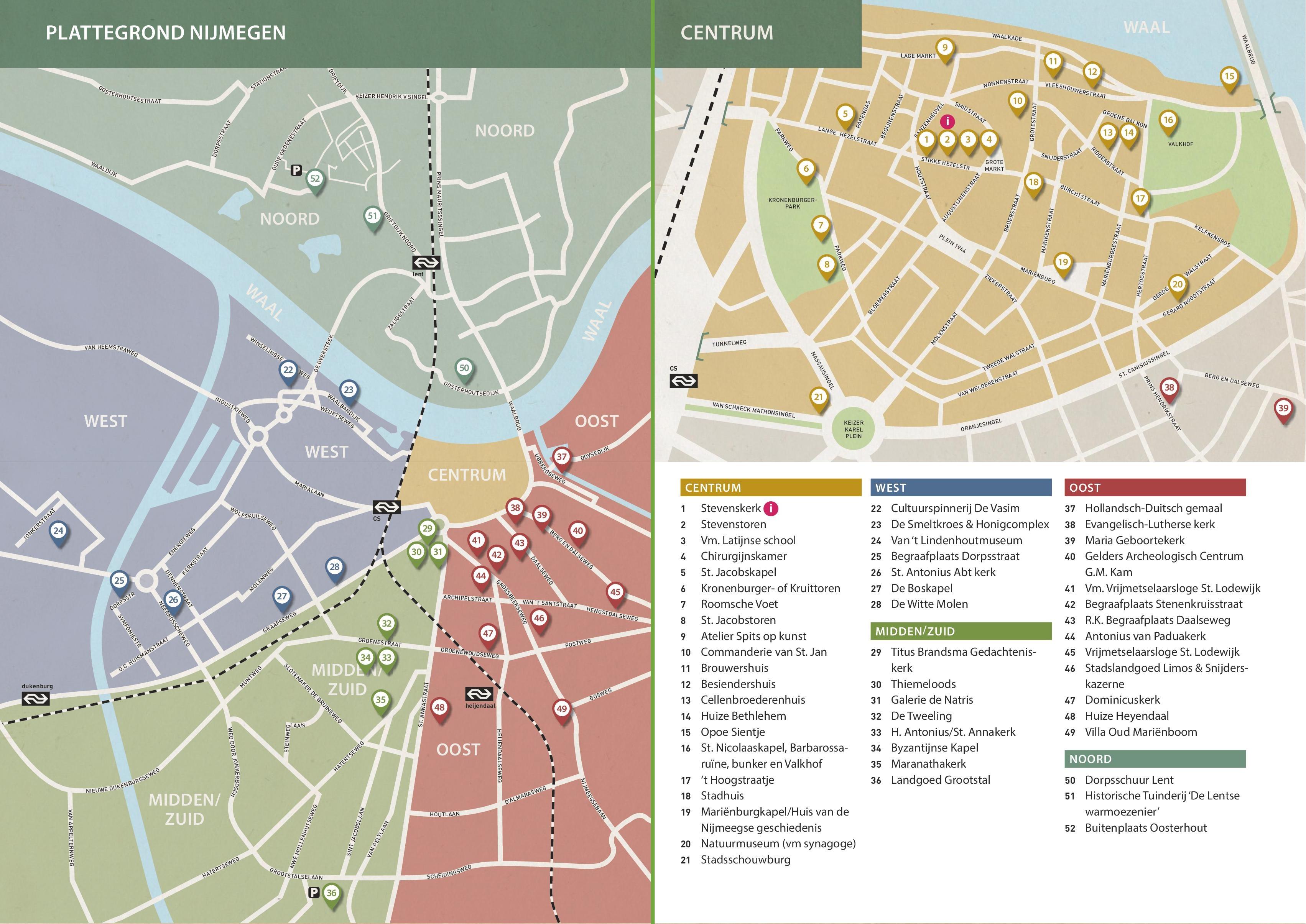 Nijmegen Maps Netherlands Maps of Nijmegen