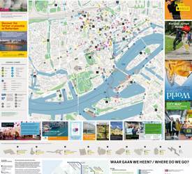 Large detailed tourist map of Rotterdam