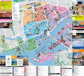 Rotterdam hotels and sightseeings map