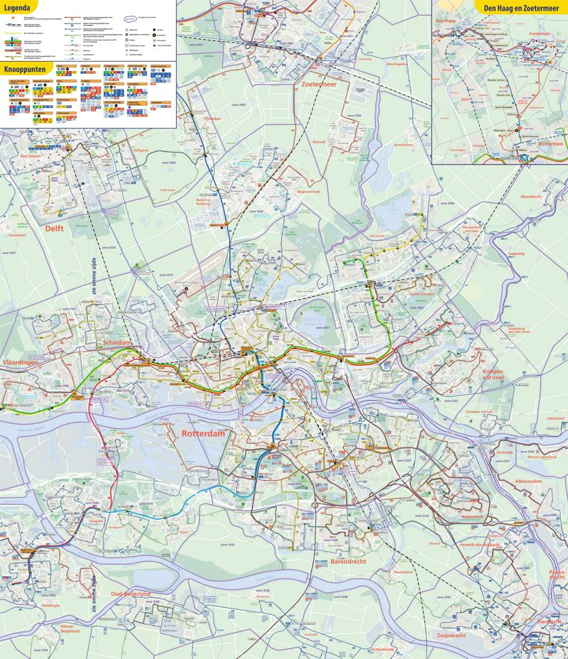 Rotterdam transport map