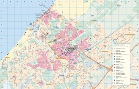 Large detailed tourist map of The Hague