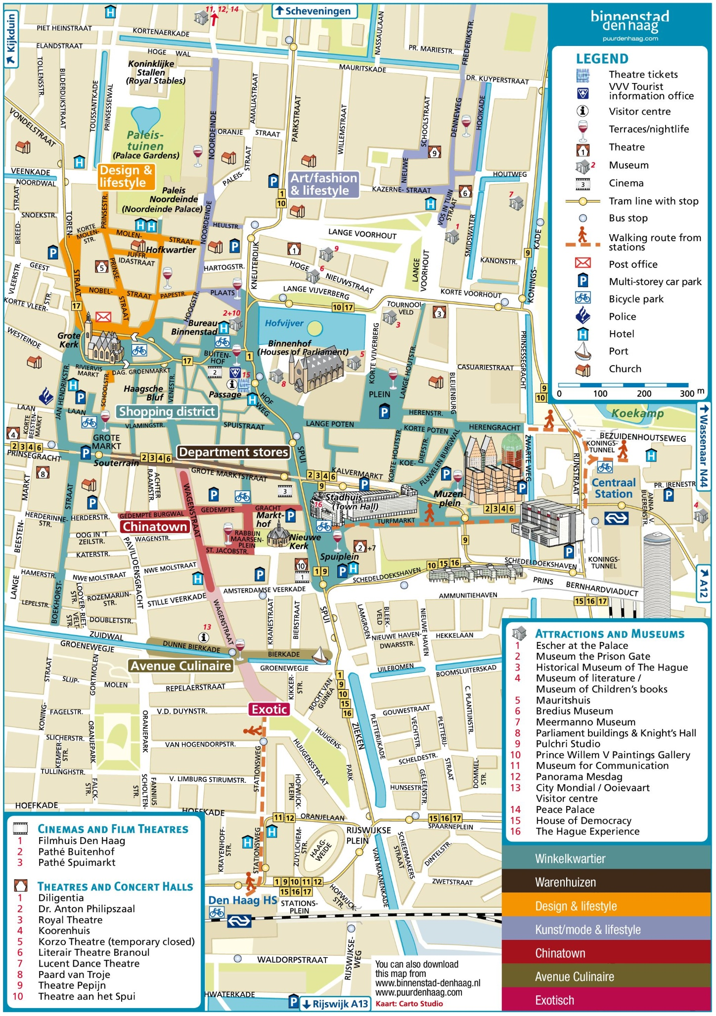 The Hague city center map