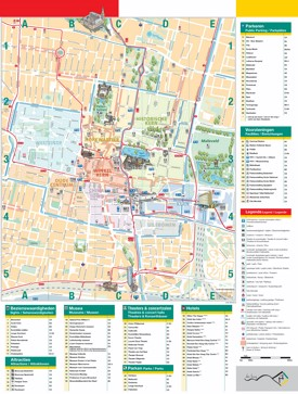 The Hague Tourist Map The Hague Maps | Netherlands | Maps of The Hague (Den Haag)
