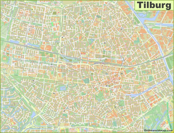 Detailed Map of Tilburg