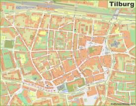 Tilburg City Center Map